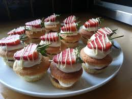 baking crazy mini strawberries and cream cakes by lorraine
