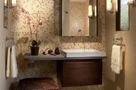 mediterranean bathroom backsplash with wall mirror with bathroom