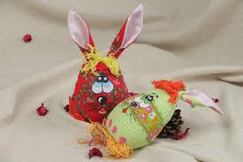 Easter Decorations Rabbits by Madeheart U003e Handmade Beautiful Interior Soft Toys Rabbits Sewn Of