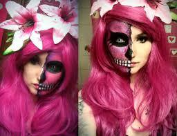 girly glitter skull make up tutorial youtube