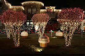 christmas garden lights decorations rainforest islands ferry