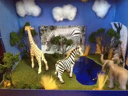 zebra diorama for 3rd grade arts u0026 crafts the kids u0026 i made