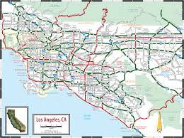 Map Of Downtown Los Angeles Map Of Los Angeles Californi Clipart