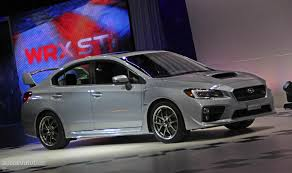 subaru coupe 2015 2015 subaru wrx sti is winged to the teeth live photos