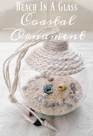 in a glass coastal ornament easy craft tutorial upcycle
