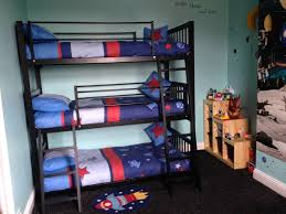 favored small space boys bedroom decors with black metal triple