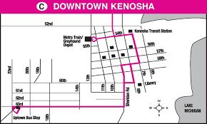 kenosha map wisconsin coach lines kenosha racine route map