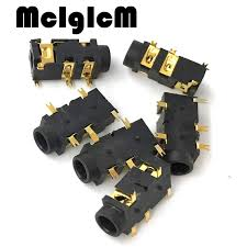 aliexpress buy hot gold plated 5mm 3 5mm tungsten h032 02 1000pcs gold plated phone diameter 3 5mm 5 pin audio