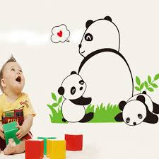 online get cheap kindergarten stickers of panda aliexpress com can remove the wall stickers home decoration the kindergarten children room adornment wall stickers a panda wall stickers