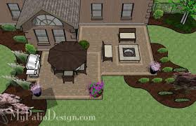 Affordable Backyard Patio Ideas Family Patio Design With Pit 545 Sq Ft Budget Patio
