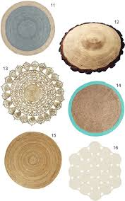 Small Round Braided Rugs Get The Look 16 Round Jute Rugs
