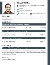 resume sles for fresh graduates bcom professional fresh students cv template by saqib ahmad via