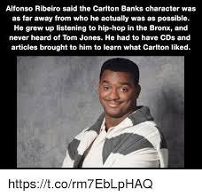 Carlton Meme - alfonso ribeiro said the carlton banks character was as far away