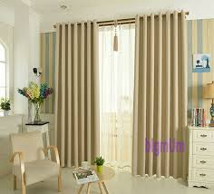 Grey Beige Curtains Faux Linen Curtains For Living Room Blackout Window Treatment