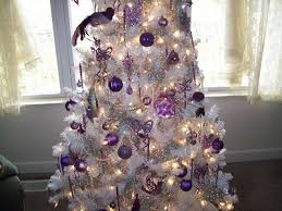 white and purple tree