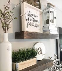 Home Decor For Walls Floating Shelves Wood Shelves Farmhouse Decor Farmhouse Style