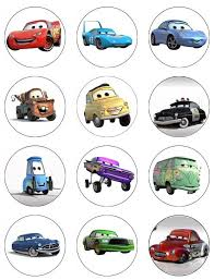 cars cake toppers cars cupcake toppers betop house set of 24 pieces cars themed