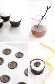 chocolate wax seals on poured fondant honey cupcakes sprinkle bakes