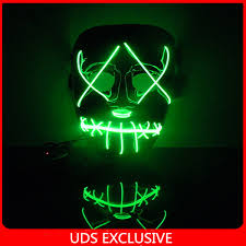 Halloween Light Up Costumes The Purge 3 Official Trailer Mask Light Up Halloween Mask Party