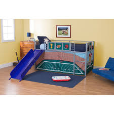 Bunk Bed With Play Area by Football Stadium Junior Fantasy Loft With Slide Silver Hayneedle
