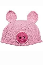 cotton crochet pig hat kids