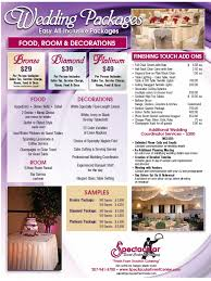 packages spectacular event center u0026 catering