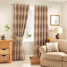 Curtain Pole Dunelm Highland Check Ochre Lined Eyelet Curtains Dunelm