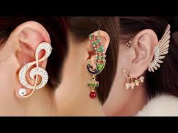design of gold earrings ear tops new model gold ear tops designs fashion ear cuff earrings designs