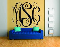 monogram wall decal fancy monogram font vinyl monogram zoom