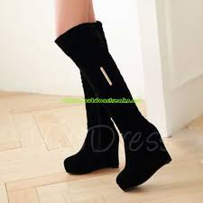 womens knee high boots canada cheap womens toe lace up front platform stiletto heel knee