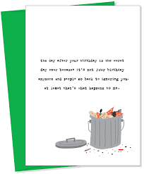 ignoring you greeting card from uncooked