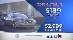 nissan altima 2016 cargurus all star nissan march tv commercial 2016 nissan altima s youtube
