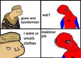 Spiderman Face Meme - drawn spiderman meme pencil and in color drawn spiderman meme