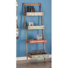 distressed ladder shelf wayfair