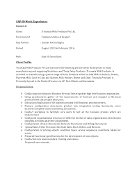 Sample Resume For Sap Mm Consultant by Sap Sd Resume Example Resume In Sd Sample Sap Resume Fico Sample