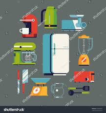 kitchen tools and equipment cool flat design on essential kitchen stock vector 308256680