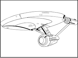 star trek enterprise plane coloring picture kids star trek