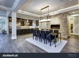 modern open floor plan dining room stock photo 564982198
