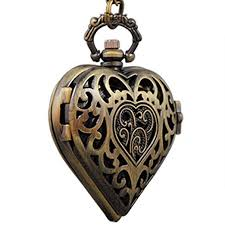 ladies pocket watch necklace images Vigoroso women 39 s steampunk pocket watch heart harry jpg