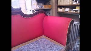 refection canapé restauration d un canapé napoléon iii en bois d acajou et tissu