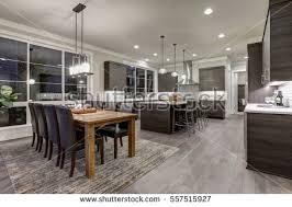 open floor kitchen designs luxury new construction home open floor stock photo 557515927