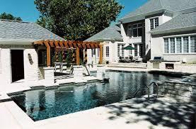 Luxury Pool Design - frontenac pool house design renovation poynter landscape