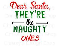 dear santa svg etsy