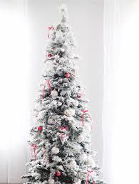 flocked christmas tree diy flocked christmas tree may me and