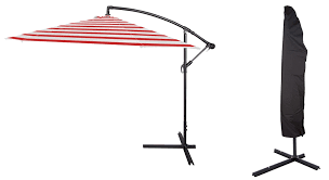 Offset Patio Umbrella Cover Deluxe Polyester Offset Patio Umbrella With Umbrella Cover By