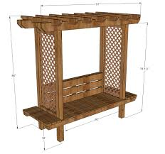 ana white outdoor bench with arbor diy projects