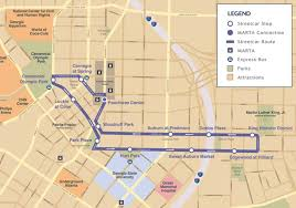 Chicago To Atlanta Map by Atlanta Streetcar Map And Destinations U2013 Marta Guide