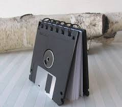 parashop siege social recycled gear blank floppy disk mini notebook in black