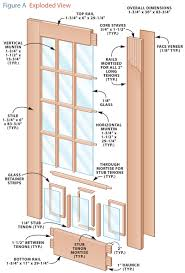 build your own french doors popular woodworking magazine 23 complete each door by installing glazing tape and glass make the glass retaining strips easier to install by pre drilling the nail holes