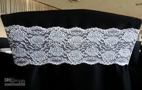 spandex chair bands lace spandex chair band for weddings window sash graduation stoles